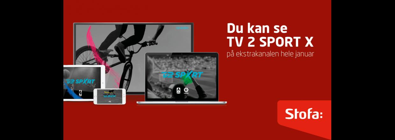 TV 2 Sport X på Ekstrakanalen Januar 2020